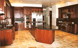 Cherry with Raised Panels Kitchen Design